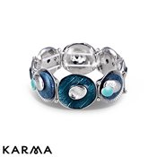 Karma Blue Circle Stretch Bracelet