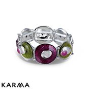 Karma Purple Circle Stretch Bracelet