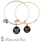 Alex and Ani Everything Happens for a Reason Expandable Wire Bangle