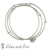 Alex and Ani Set of 3 Shiny Silver Bangles