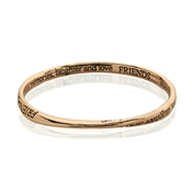 Affirmations Rose Gold Friends Bangle