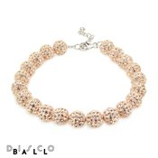 Disco Ball Full Champagne 8mm Crystal Bracelet