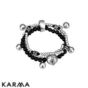 Karma Make Love Not War Charm Bracelet