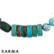 Karma Blue Chunky Beaded Necklace