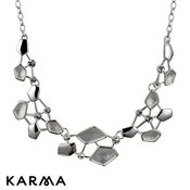 Karma Frosted Geometric Necklace