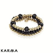Karma Black Gold Beaded Bracelet