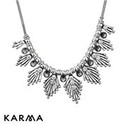 Karma Multi Leaf Necklace