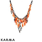 Karma Orange Starburst Necklace