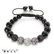 Disco Ball Full Grey Mix Onyx Bracelet