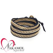Nakamol Design Thick Chain Wrap Bracelet – Gold