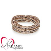 Nakamol Design Rose Gold Wrap Bracelet