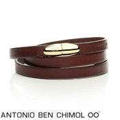 Antonio Ben Chimol Brown & Gold Sweet Pill Bracelet