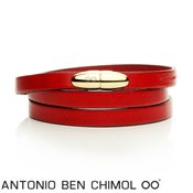 Antonio Ben Chimol Red & Gold Sweet Pill Bracelet