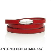 Antonio Ben Chimol Red & Silver Sweet Pill Bracelet