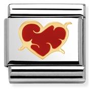 Nomination Red Enamel Thorn Heart Charm