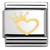 Nomination Crown Heart Charm