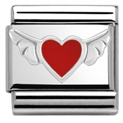 Nomination Silvershine Winged Heart Charm