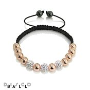 Disco Ball Rose Gold Bead Crystal Bracelet