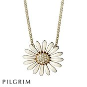 PILGRIM Marguerite Gold White Necklace