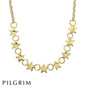 PILGRIM Classic Gold Stellar Stars Necklace