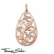 Thomas Sabo Large Rose Gold Tear Drop Pendant