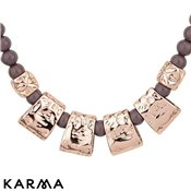 Karma Ethereal Mauve Hammered Beaded Necklace