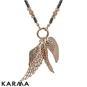 Karma Ethereal Rose Gold Wings Necklace