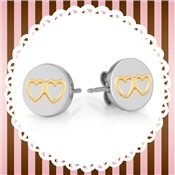 Nomination Double Heart Charm Earrings