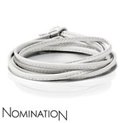 Nomination White Leather Bracelet