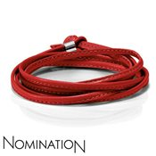 Nomination Red Leather Bracelet