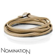 Nomination Beige Almond Leather Bracelet