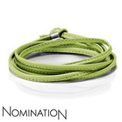 Nomination Green Leather Bracelet