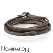 Nomination Brown Leather Bracelet