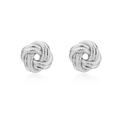 Argento Silver Knot Stud Earrings