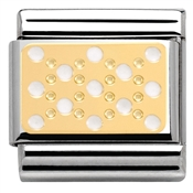 Nomination White Enamel Dots Charm