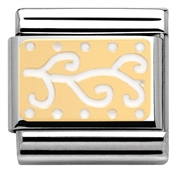 Nomination White Enamel Tribal Charm
