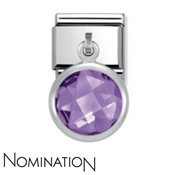 Nomination Purple Crystal Drop Charm