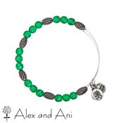 Alex and Ani Russian Silver Watercolour Fern Bangle