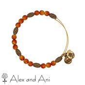 Alex and Ani Russian Gold Watercolour Tangerine Bangle