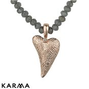 Karma Ethereal Rose Gold Irregular Heart Necklace