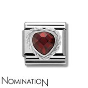 Nomination Red Crystal Heart Charm