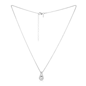Solitaire Cradled Crystal Necklace by Argento