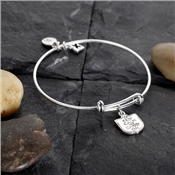 Karma Silver To Be Coin Bangle