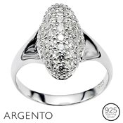 Argento Pavé Oval Ring
