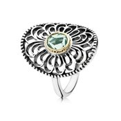 Pandora Precious Heritage Green Spinel Lace Ring