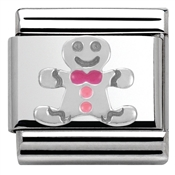 SilverShine Gingerbread Man Charm by Nomination