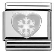 Nomination SilverShine Christmas Heart Charm