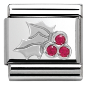 Nomination SilverShine Christmas Holly Charm