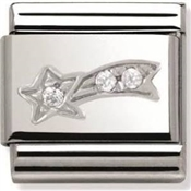 Nomination SilverShine Shooting Star Charm