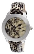 PILGRIM Silver Plated Snake Skin Watch